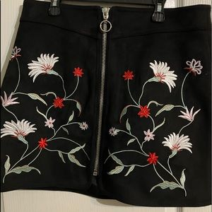 Dex Skirts - Dex embroidered skirt-